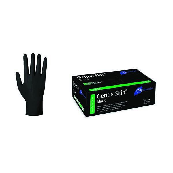 Gentle Skin Black Einmalhandschuhe