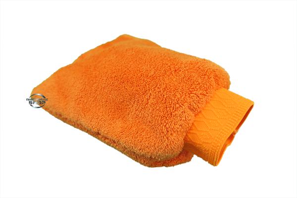 FS Mikrofaser Waschhandschuh Orange